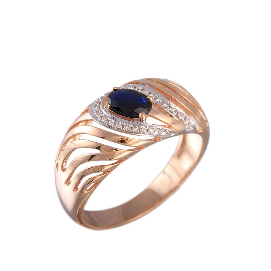 продажа Женская Кольцо c бриллиантами и сапфирами 36-335-R 17,5 в онлайн интернет магазине Лукас-Золото