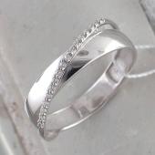 Кольцо Космос с фианитами из серебра