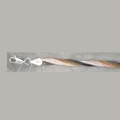 Цепь Коса из серебра с позолотой, родированием и чернением