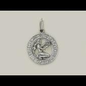 Кулон знак зодиака Дева в круге, серебро