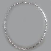 Цепь Коса из четырех цепей из серебра
