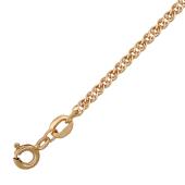 Цепь Нонна с алмазной огранкой, красное золото, 585 проба 3.5мм