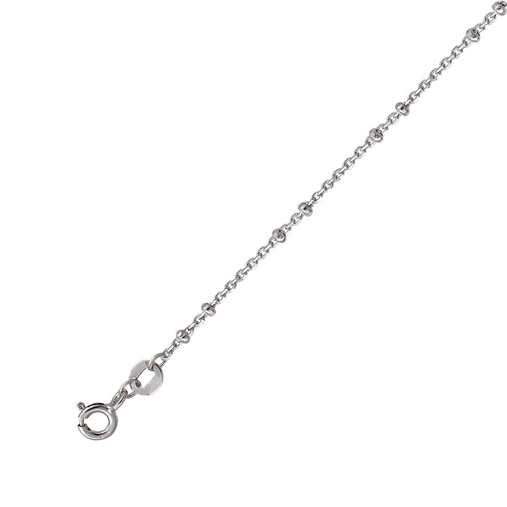 Серебряная цепь якорная с шайбами, проба 925
