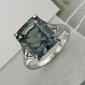 Кольцо с квадратным хрусталем, серебро