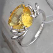 Кольцо с цитрином, серебро