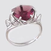 Кольцо с родолитом, серебро