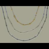 Колье с шариками, серебро с позолотой и чернением