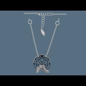 Колье Окружность из серебра с чернением