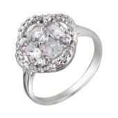 Кольцо Малинка с фианитами, серебро