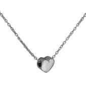 Колье Сердце на якорной цепи, серебро