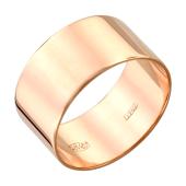 Кольцо обручальное широкое прямое из серебра с позолотой 9мм