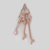 Подвеска Связка Ключей, серебро с позолотой