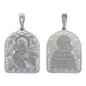 Владимирская Икона Божьей Матери в ажурном окладе, серебро