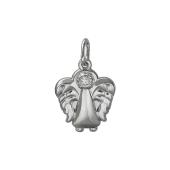 Кулон Ангелочек Купидон с фианитом, серебро