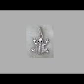 Подвеска Лягушка с фианитами, серебро