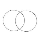 Серьги-Конго, серебро, 50мм