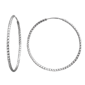 Серьги Конго с алмазными гранями, серебро