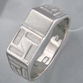 Кольцо мужское без вставок, серебро
