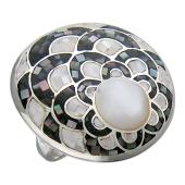 Кольцо Перстень с перламутром, серебро