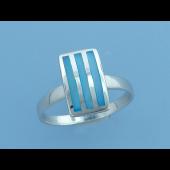 Кольцо с тремя полосками перламутра, серебро
