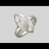 Кольцо с перламутром, серебро