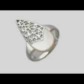 Кольцо Капелька с перламутром, серебро