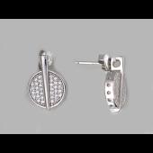 Серьги серебро с фианитами, серебро