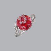 Кольцо с муранским стеклом, серебро