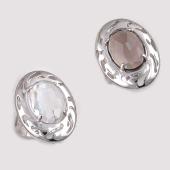 Кольцо с горным хрусталем (раухтопазом) из серебра