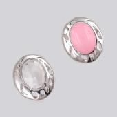 Кольцо с горным хрусталем (розовым кварцем) из серебра