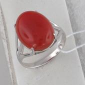 Кольцо с агатом ботсвана (бычьим глазом, кианитом, сердоликом) из серебра