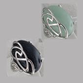 Кольцо с кианитом (лазуритом, сердоликом) из серебра 925 пробы