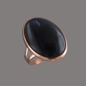 Кольцо с бычьим глазом (содалитом), серебро с позолотой