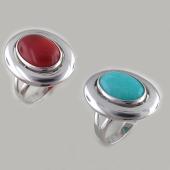 Кольцо с хризопразом (сердоликом), серебро
