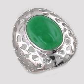 Кольцо с хризопразом (перламутром), серебро