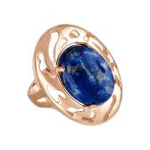 Кольцо с лазуритом (бирюза, малахит), серебро с золотым покрытием