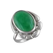 Кольцо с агатом (хризопразом), серебро