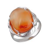 Кольцо с хризоколлой (амазонитом, хризопразом) из серебра