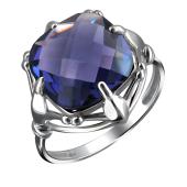Кольцо с аметистовым кварцем из серебра 925 пробы