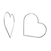 Серьги Сердце из серебра 925 пробы