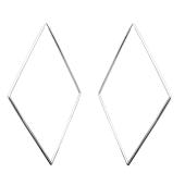 Серьги Геометрия из серебра 925 пробы