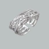 Кольцо Пена морская с фианитами, серебро