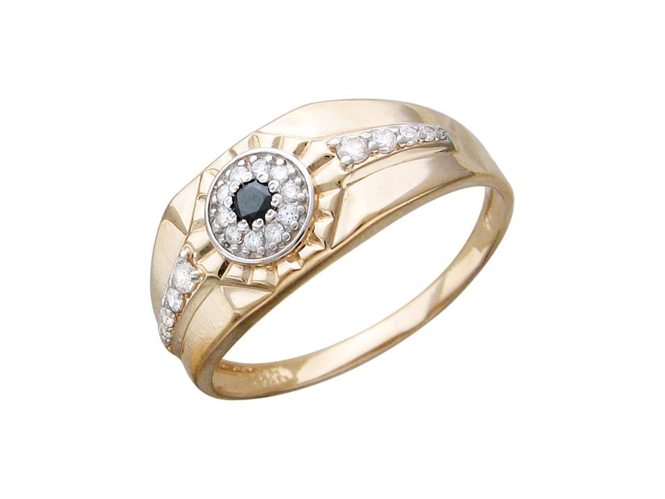 С3К212800e кольцо из золота 585 пробы с ФИАНИТАМИ и ЦВЕТНЫМ ФИАНИТОМ Доступные для заказа ювелирные украшения с