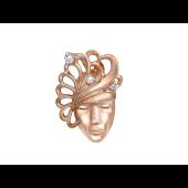 """Кулон венецианская маска """"Веер"""""""