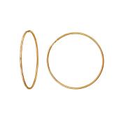 Серьги Конго с алмазными гранями, красное золото 40мм