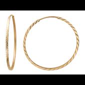 Серьги Конго с алмазными гранями, красное золото 35мм