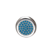 Подвеска круглая с искусственной бирюзой, серебро