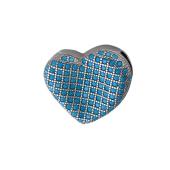 Подвеска Сердце с искусственной бирюзой, серебро