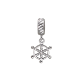 Подвеска-шарм Штурвал, серебро