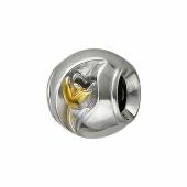 Подвеска-шарм Тюльпан, серебро с позолотой
